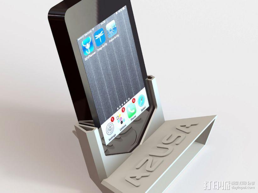 A2USA iPhone 手机座 3D打印模型渲染图