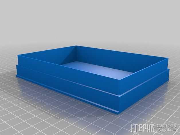 硬盘储存盒 3D打印模型渲染图