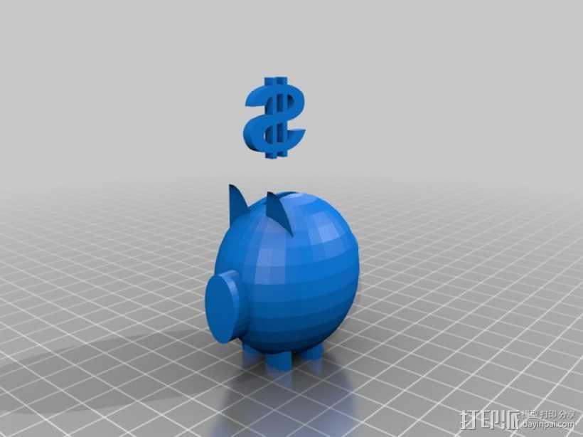 扑满模型 3D打印模型渲染图