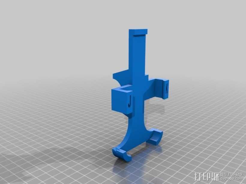 iphone4手机座 3D打印模型渲染图