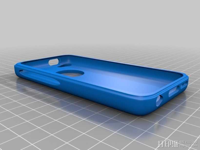 iphone5c手机壳 3D打印模型渲染图