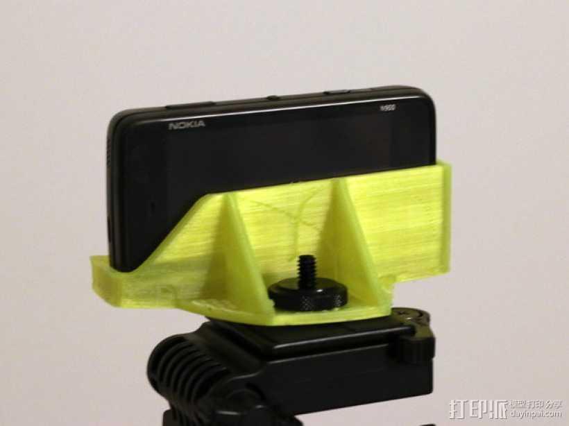 诺基亚N900三角支架 3D打印模型渲染图