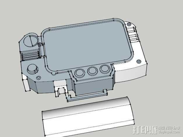Pip Boy 3000 3D打印模型渲染图