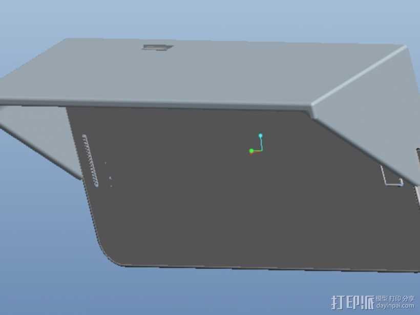 三星S2遮阳板 3D打印模型渲染图