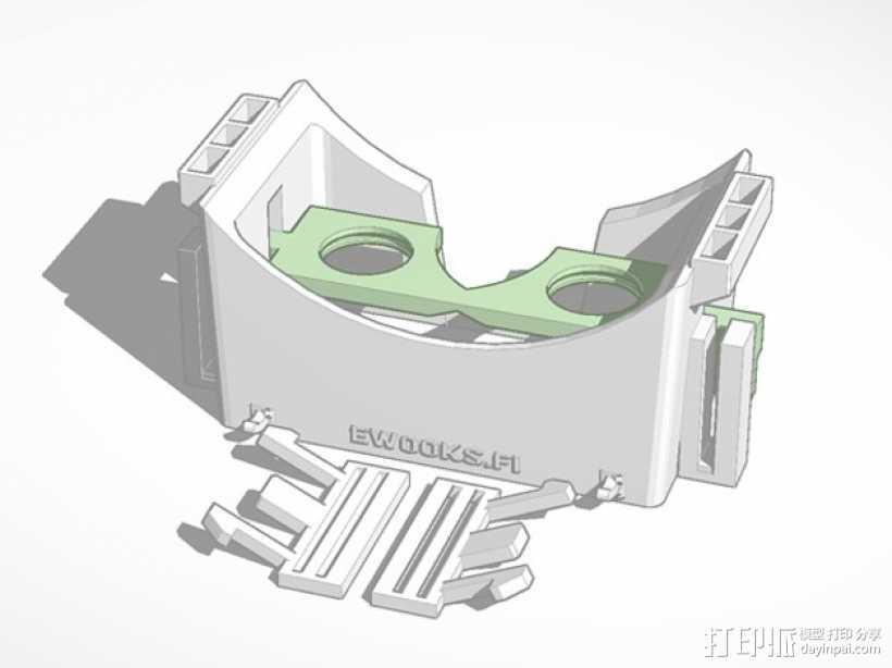 滤镜眼镜 3D打印模型渲染图