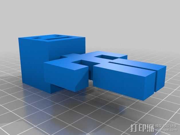 人形 3D打印模型渲染图