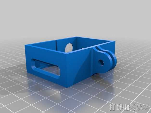 Gopro Frame hero 3 3D打印模型渲染图