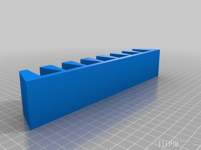 唱片架 3D打印模型渲染图