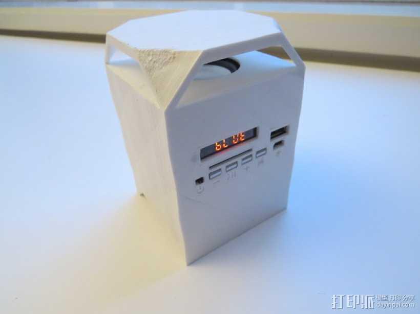 迷你蓝牙扬声器 3D打印模型渲染图