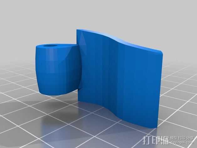 三脚架锁 3D打印模型渲染图