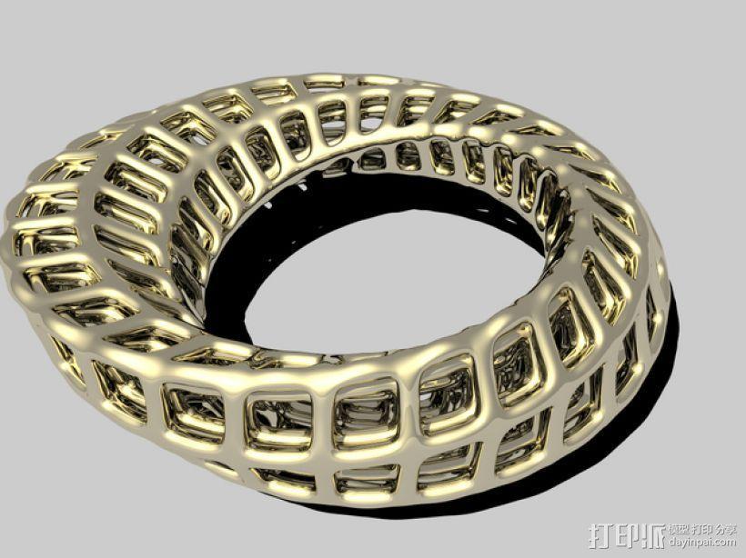 莫比乌斯指环 3D打印模型渲染图