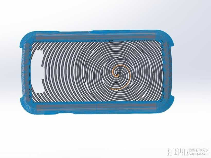 Samsung Galaxy S3手机壳 3D打印模型渲染图