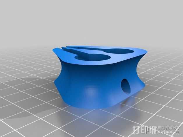 苹果耳机座 3D打印模型渲染图