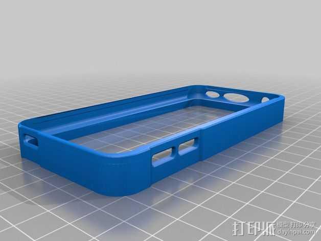 ipod5保护壳 3D打印模型渲染图