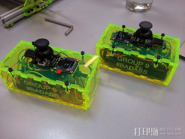 游戏控制器 3D打印模型渲染图