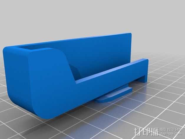 苹果5手机座 3D打印模型渲染图