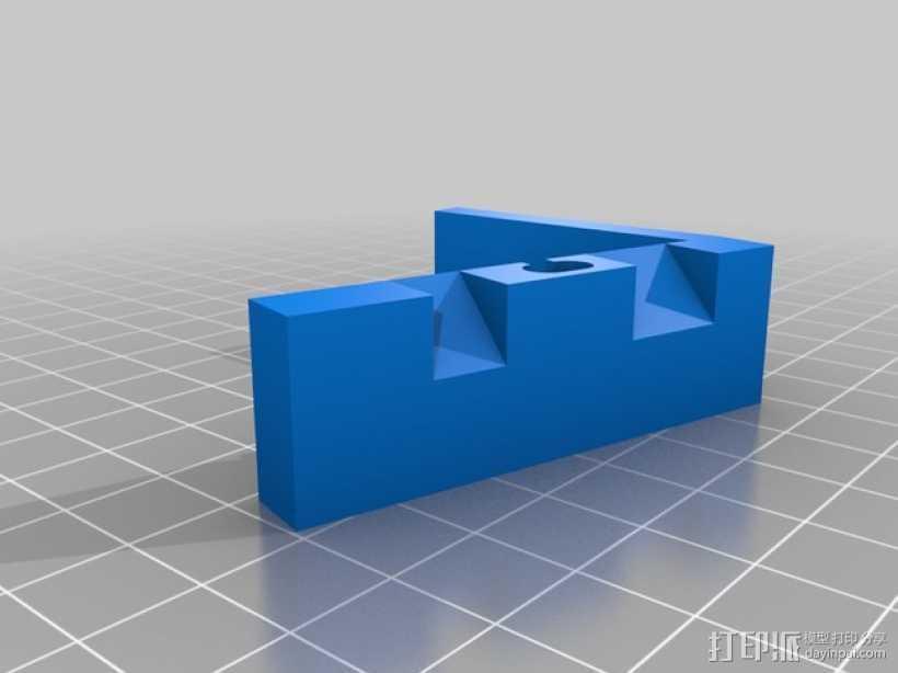 闪电样式苹果手机座 3D打印模型渲染图