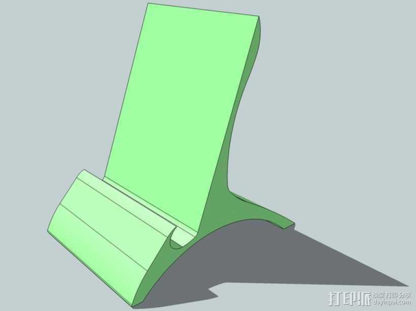 手机座 3D打印模型渲染图