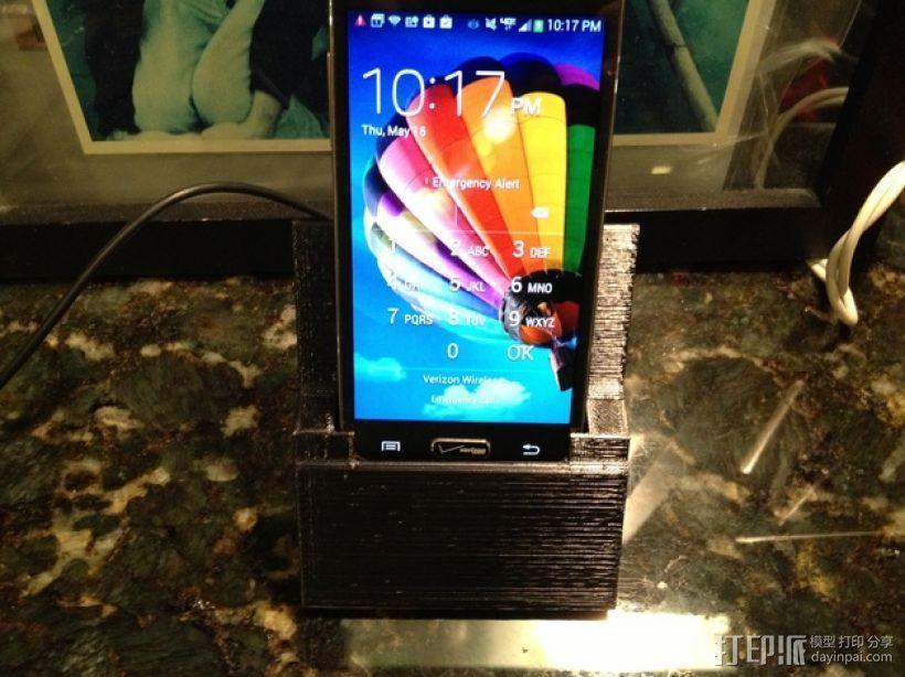 Samsung Galaxy S4手机座 3D打印模型渲染图