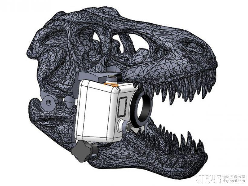 恐龙相机外壳 3D打印模型渲染图