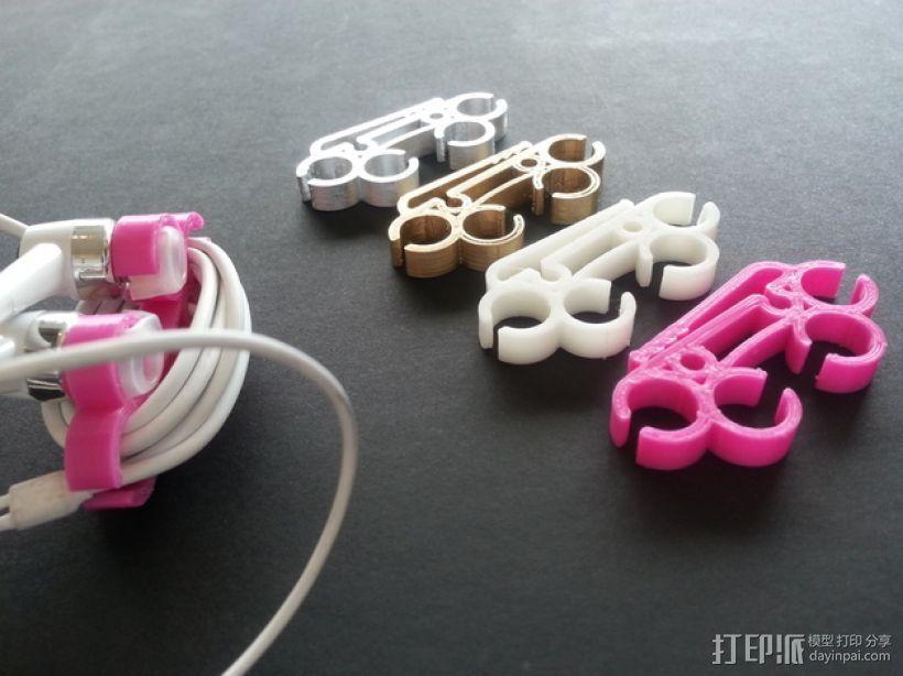 耳机圈线器 3D打印模型渲染图