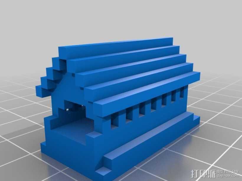 房子摆件 3D打印模型渲染图