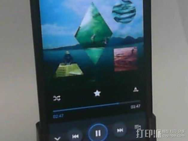 Galaxy S4扬声器 3D打印模型渲染图