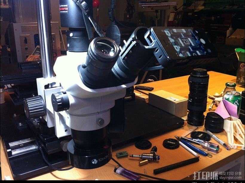 iPhone 5 奥克林巴斯显微镜 3D打印模型渲染图
