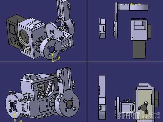 架子 3D打印模型渲染图