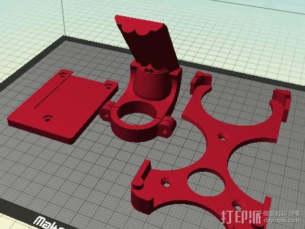 GalaxyS5车载手机座 3D打印模型渲染图