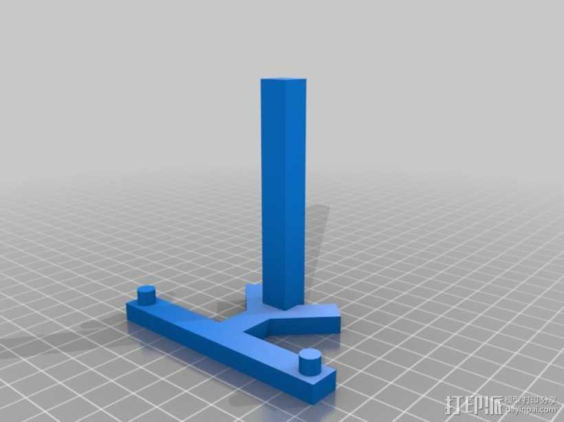 平板电脑支架 3D打印模型渲染图