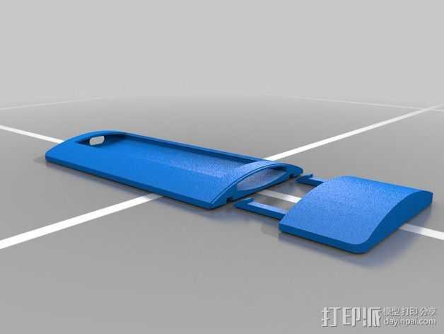 苹果遥控器壳子 3D打印模型渲染图