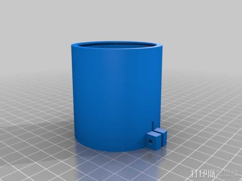 镜头适配器 3D打印模型渲染图
