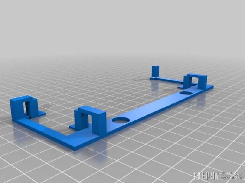 Nexus 4车载支架 3D打印模型渲染图