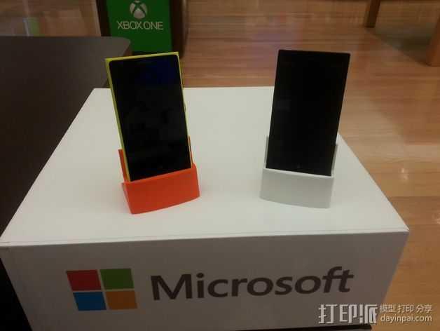 Nokia 928手机座 3D打印模型渲染图
