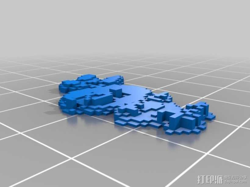 火鸡摆件 3D打印模型渲染图