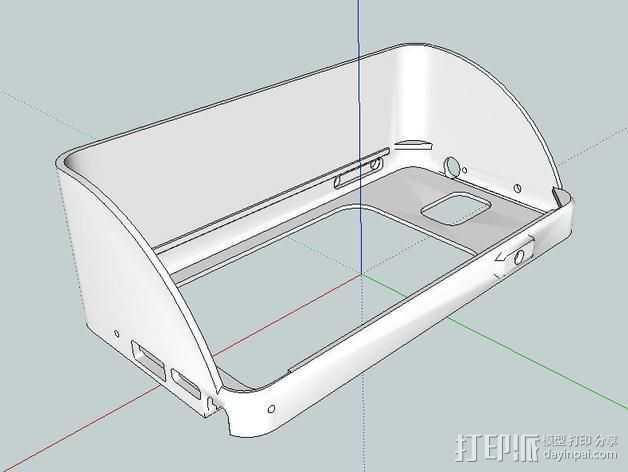 Galaxy Note 3 摩托车支架 3D打印模型渲染图