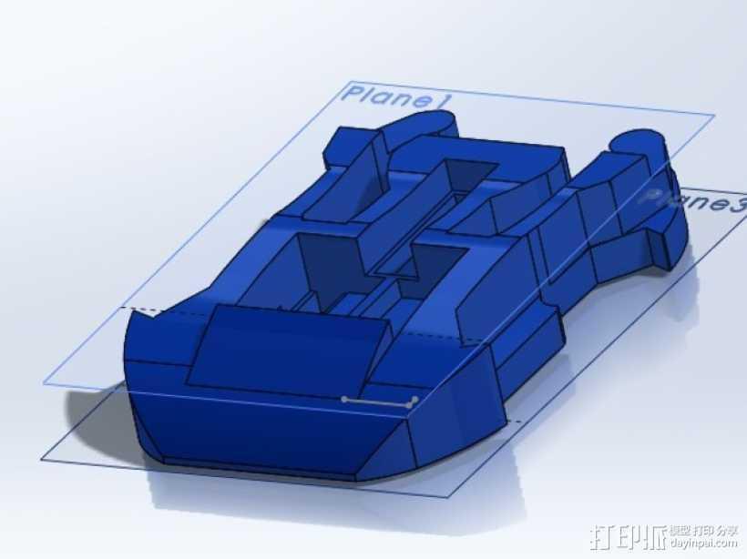 GoPro底板 3D打印模型渲染图