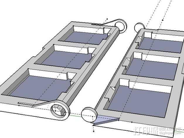 DS/3DS游戏机壳 3D打印模型渲染图