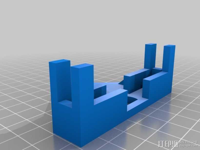 Samsung S4三角架适配器 3D打印模型渲染图