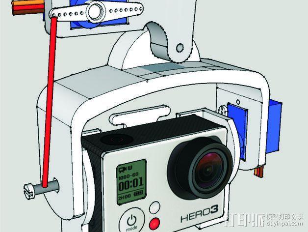 GoPro DJI NAZA支架 3D打印模型渲染图