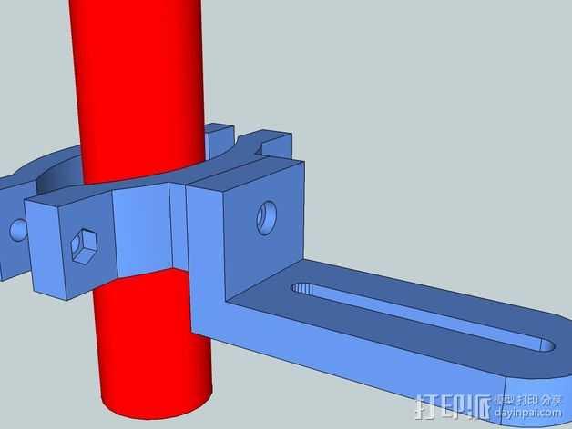 照相机把手 3D打印模型渲染图