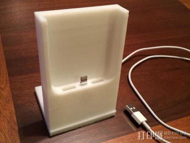 iPhone 5S 充电手机座 3D打印模型渲染图