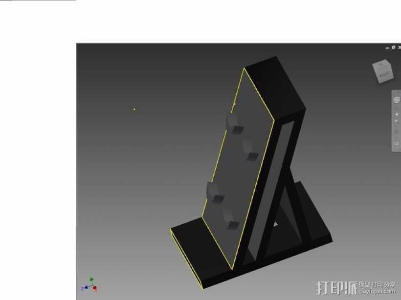 Ps4 控制器站 3D打印模型渲染图