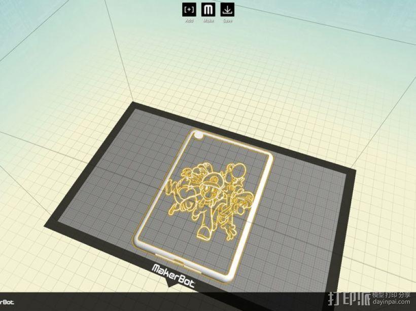 ipad保护壳 3D打印模型渲染图