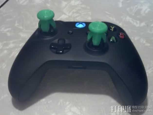 游戏控制器按钮 3D打印模型渲染图