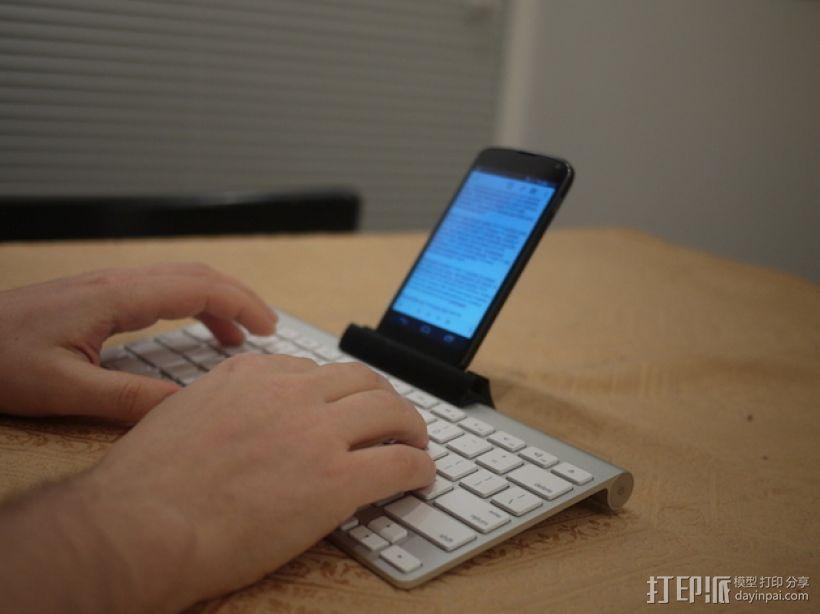 苹果虚线键盘夹 3D打印模型渲染图