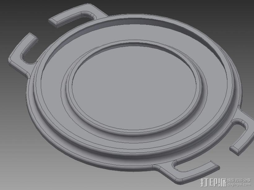 尼康镜头盖 3D打印模型渲染图