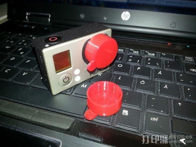 GoPro Hero 3 镜头盖 3D打印模型渲染图