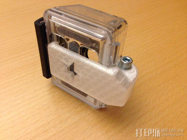GoPro 相机夹子 3D打印模型渲染图